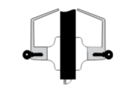 Yale-4700(LN) Double Clyinder Leverset - Utility, Asylum or Institutional