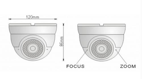 2 Megapixel 1080P HDCVI IR Dome Camera - Detailed Image