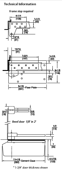 Rixson Model L27 3/4 Offset Technical Information