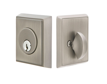 Emtek Rectangular Single Cylinder Deadbolt
