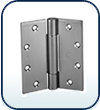 """4 to 4"""", 3-Knuckle Full Mortise Hinge"""