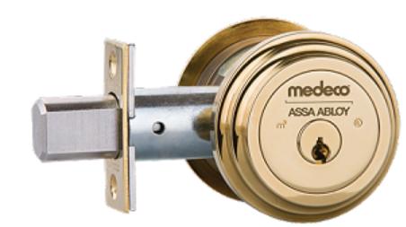 Medeco3 Double Cylinder Captive Thumbturn Maxum Deadbolt - Residential Style Trim