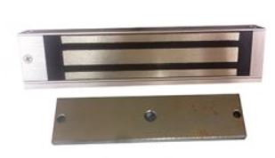 Surface Mount Magnetic Lock - 300 lbs - Anodized Aluminum Housing
