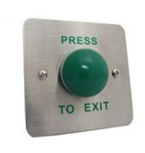 Exit Mushroom Push Button with Wide Face Plate