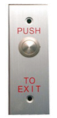 Exit Push Button - Narrow Face Plate