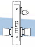 Arrow AM Series Single Cylinder Mortise Lock - Grade 1 - Vestibule