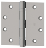 Hagar 4.5in x 4.5in Standard Weight 8 Hole Ball Bearing Hinge