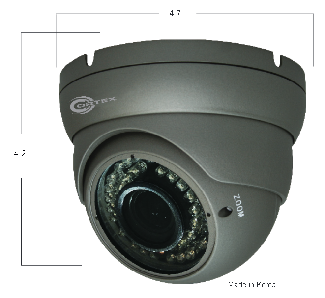 Security SDI Outdoor IR Turret Dome Camera