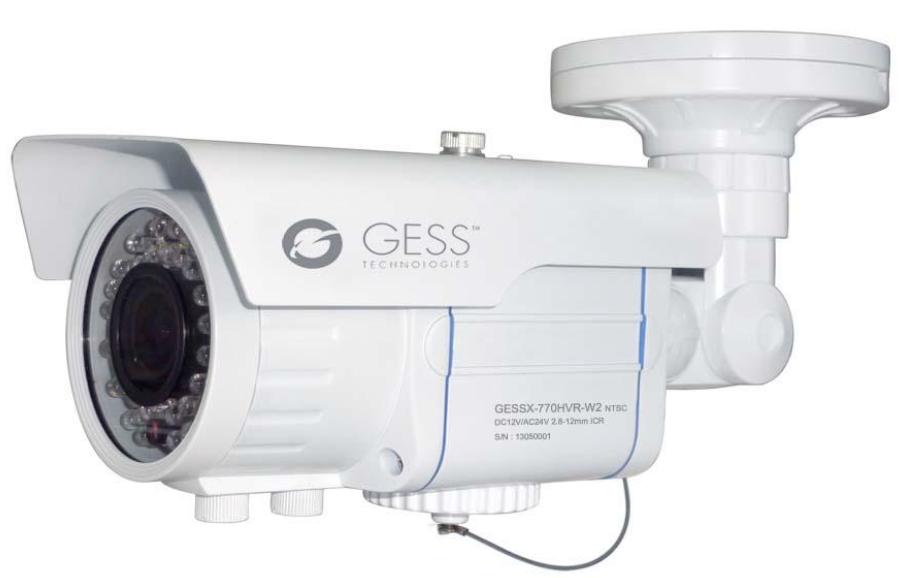 IP Indoor-Outdoor Bullet Camera - 1/3'' Aptima CMO - 42 IR LED