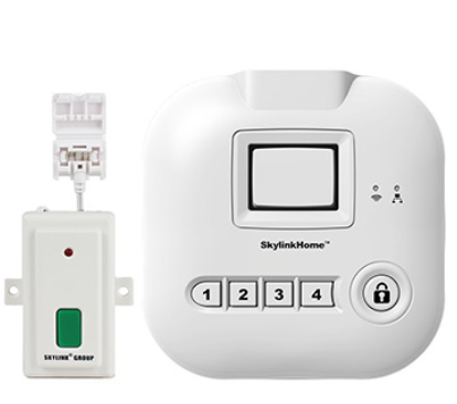 Smart Home Garage Door Opener Monitor With Smartphone