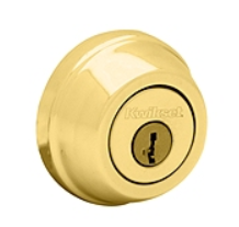Kwikset Polished Brass Double Cylinder Deadbolt - Grade 1