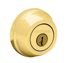 Kwikset Polished Brass Double Cylinder Deadbolt - Grade 1