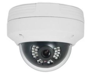 Outdoor IP Dome Camera - 24IR, 0Lux; 30fps@2MP