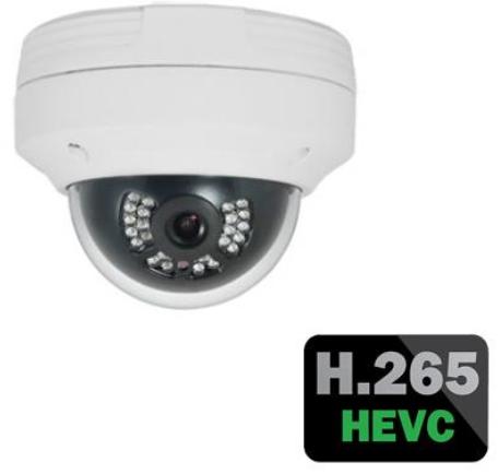 Weatherproof Outdoor IP Dome Camera - 4.0 Megapixel - H.265 Compression