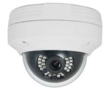 Weatherproof Outdoor IP Dome Camera - 4.0 Megapixel