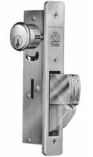 Adams Rite Mortise Cylinder Longbolt Deadlock with ANSI Plain Faceplate