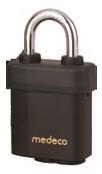 Medeco X4 Indoor/Outdoor Padlock 5/16in Shackle, 6 Pin, SFIC Cylinder