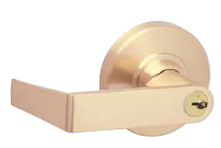 Schlage ND-Series Grade 1 Leverset - Rhodes - Non-Key Privacy-Bath