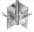 Hagar Electrified Hinge - 8 Wire - 4.5in x 4.5in BB1279 1104