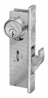 Adams Rite Mortise Cylinder Hookbolt with Plain Faceplate