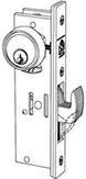 Adams Rite Weatherseal Stainless Steel Mortise Cylinder Hookbolt