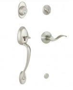 Schlage Plymouth Handleset with Accent Knob