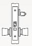 Arrow AM Series Single Cylinder Mortise Lock - Grade 1 - Classroom