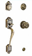 Schlage Pathenon Handleset - Antique Brass