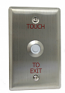 Exit Touch Switch Button, Bicolor with Red Illuminator