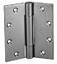 Door Hinge 4 1.5in x 4 1.5in, Brass Standard Weight-TA314-4.5-B