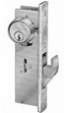 Adams Rite Mortise Cylinder Hookbolt with ANSI Plain Faceplate