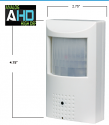 Hybrid A-HD & Analog Motion Detector Camera