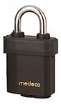 Medeco Indoor/Outdoor Padlock 5/16in Shackle, 7 Pin, SFIC - Medeco X4 Cylinder
