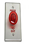 Exit Push Button with Red Illuminator