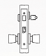Arrow AM Series Single Cylinder Mortise Lock - Grade 1 - Entrance