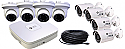 8 Channel NVR + 4 IP Bullet Cameras + 4  IP Dome Camera Kit