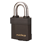 Medeco3 Indoor-Outdoor Padlock 7/16in Shackle-6 Pin LFIC Cylinder