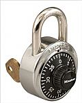 Master Lock Dial Combination Padlock - 3/4in Shackle