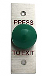 Exit Mushroom Push Button on Stainless Steel Plate