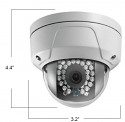 4MP Outdoor Mini Dome with WDR