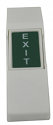 Plastic Exit Push Button - Green, White Letters