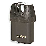 Medeco X4 Indoor/Outdoor Shrouded Padlock-7/16in Shackle, KIK Cylinder