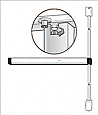 Adams Rite Narrow Stile Vertical Rod