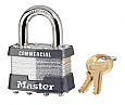 Master Lock No 3 Laminated Steel Padlock - 3/4in Shackle