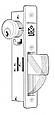 Adams Rite Stainless Steel Mortise Cylinder Longbolt Deadbolt