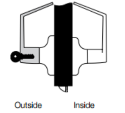 Yale 5400LN Lever Lock Single Cylinder - Classroom