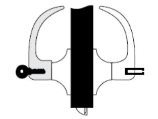 Yale 5400LN Grade 1 single cylinerder leverset
